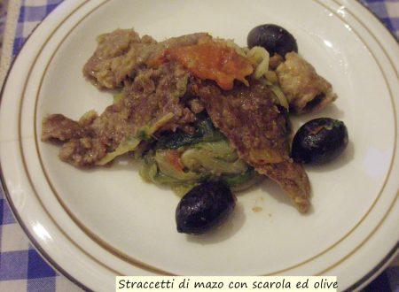 Straccetti di manzo con scarola ed olive gluten free