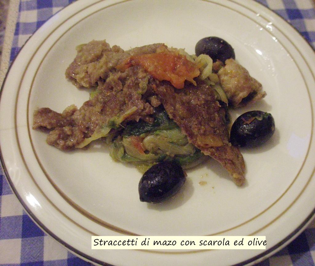 straccetti di manzo con scarola ed olive