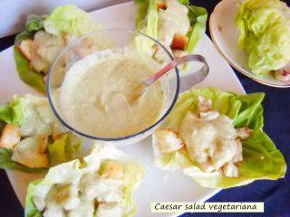 Caesar salad vegetariana