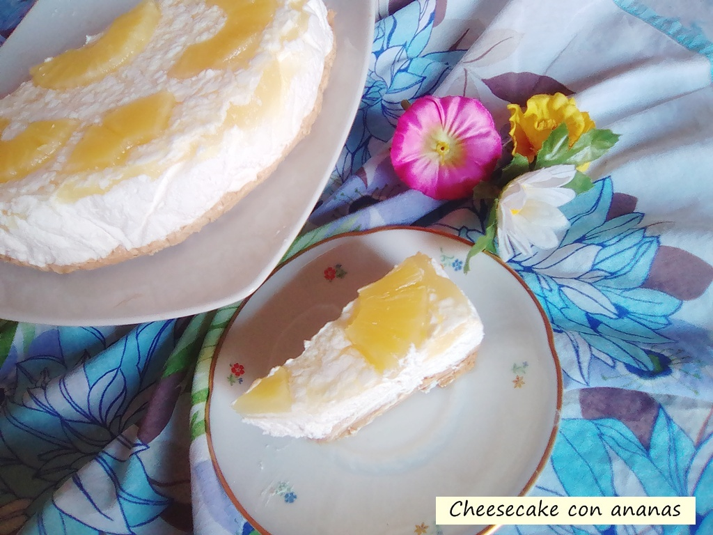 cheesecake con ananas