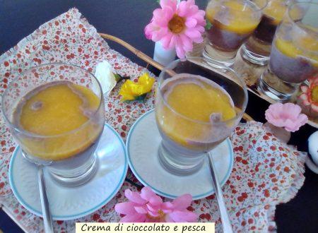 Crema con cioccolato e pesca