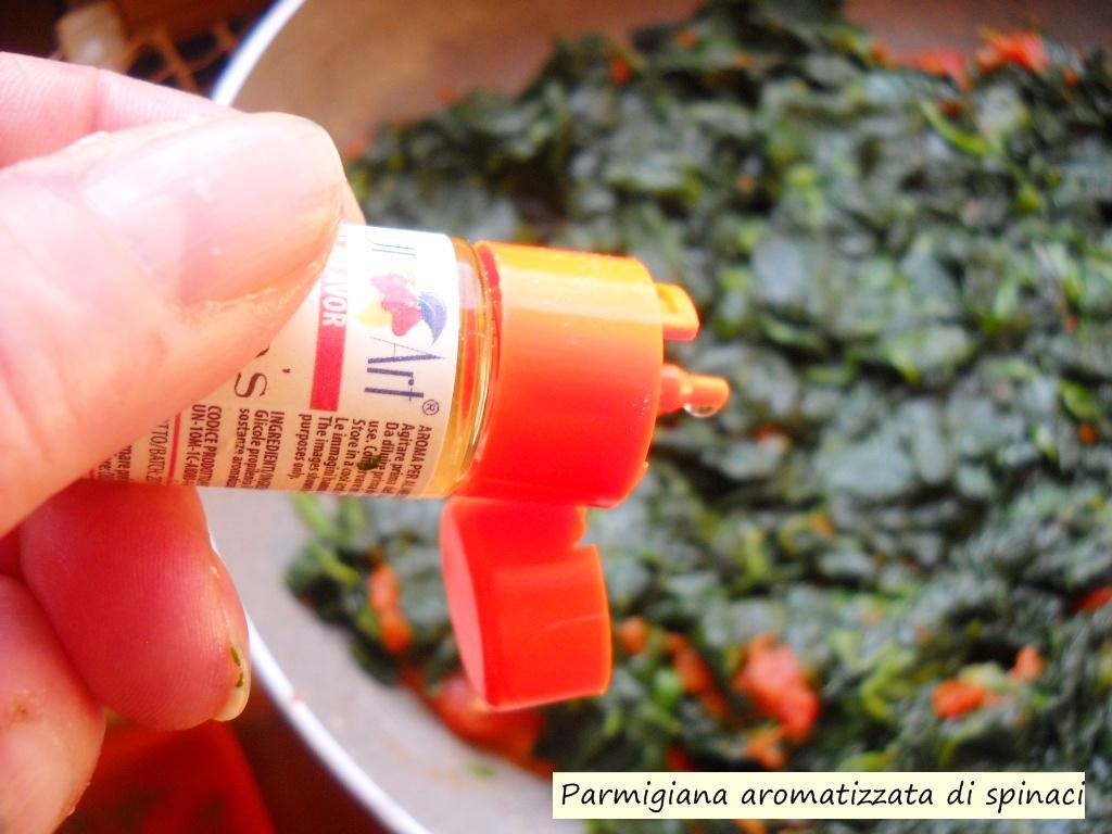parmigiana aromatizzata di spinaci