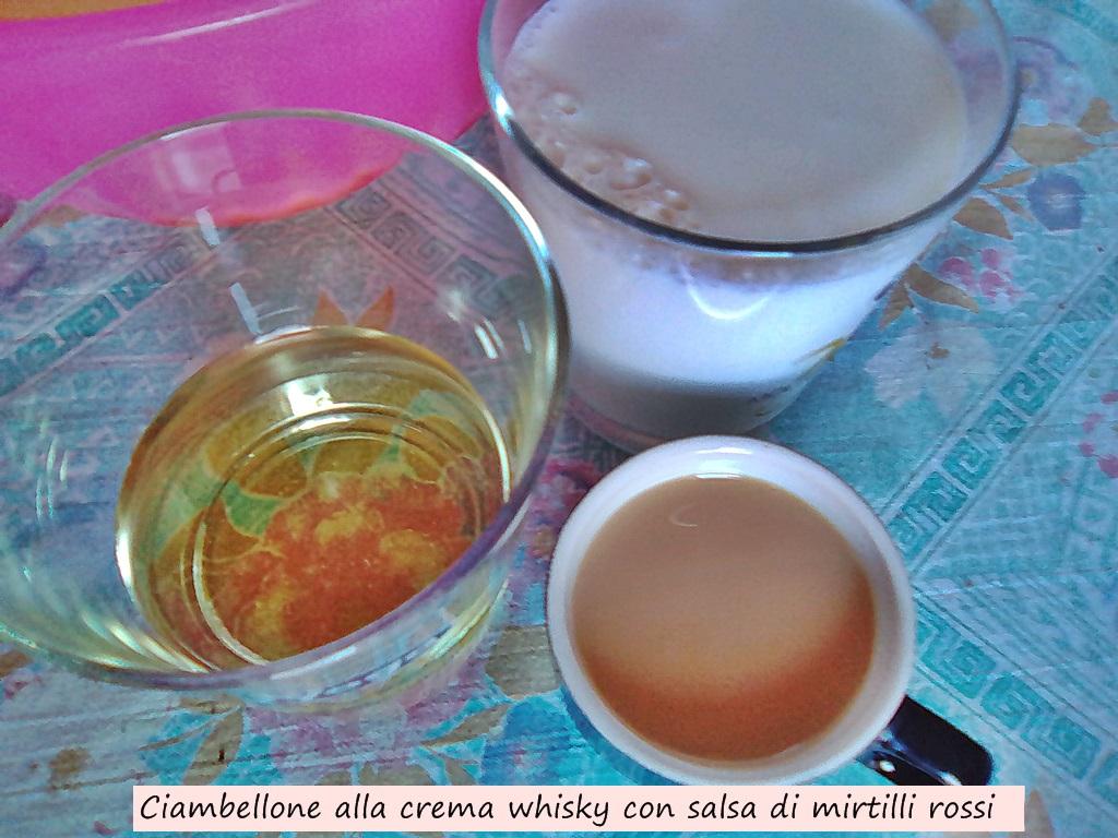ciambellone alla crema whisky con salsa di mirtilli rossi