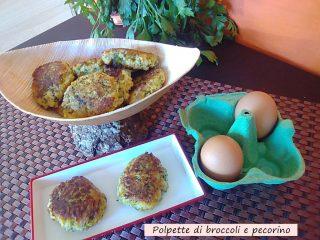 polpette di broccoli e pecorino