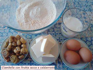 ciambella con frutta secca e caldarroste