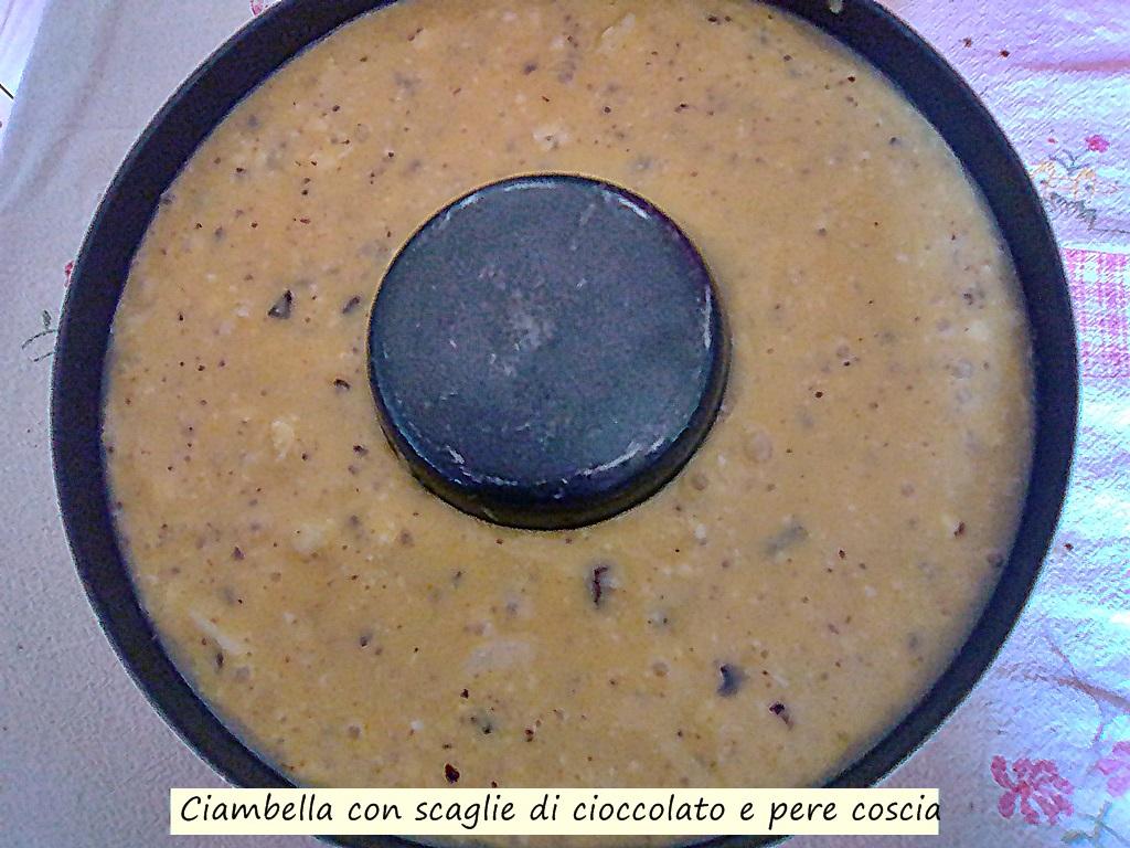 ciambella con cioccolato e pere coscia