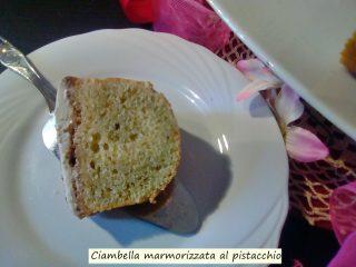 ciambella marmorizzata al pistacchio