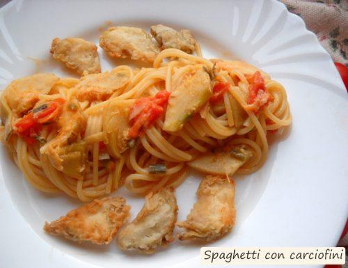 Spaghetti con carciofini
