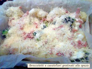 broccoletti e cavolfiori gratinati alle spezie