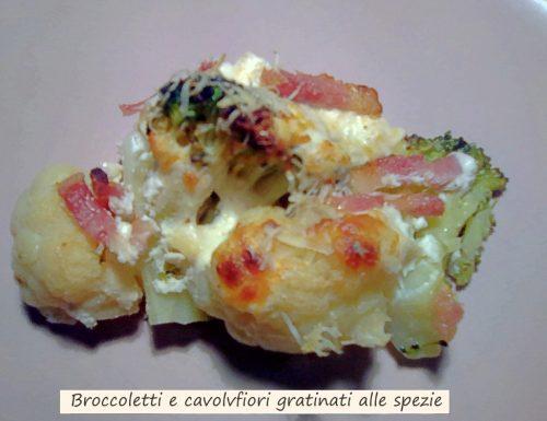 Broccoletti e cavolfiori gratinati con spezie