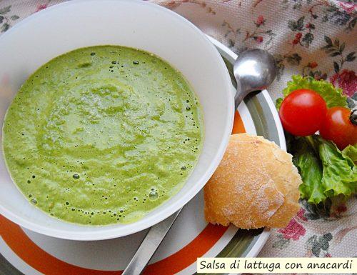 Salsa di lattuga con anacardi