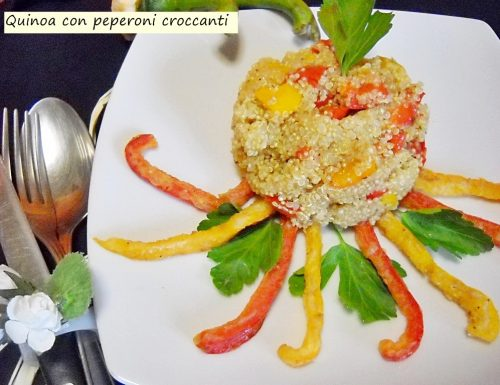 Quinoa con peperoni croccanti