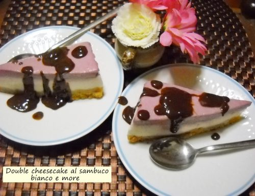 Double cheesecake al sambuco bianco e more