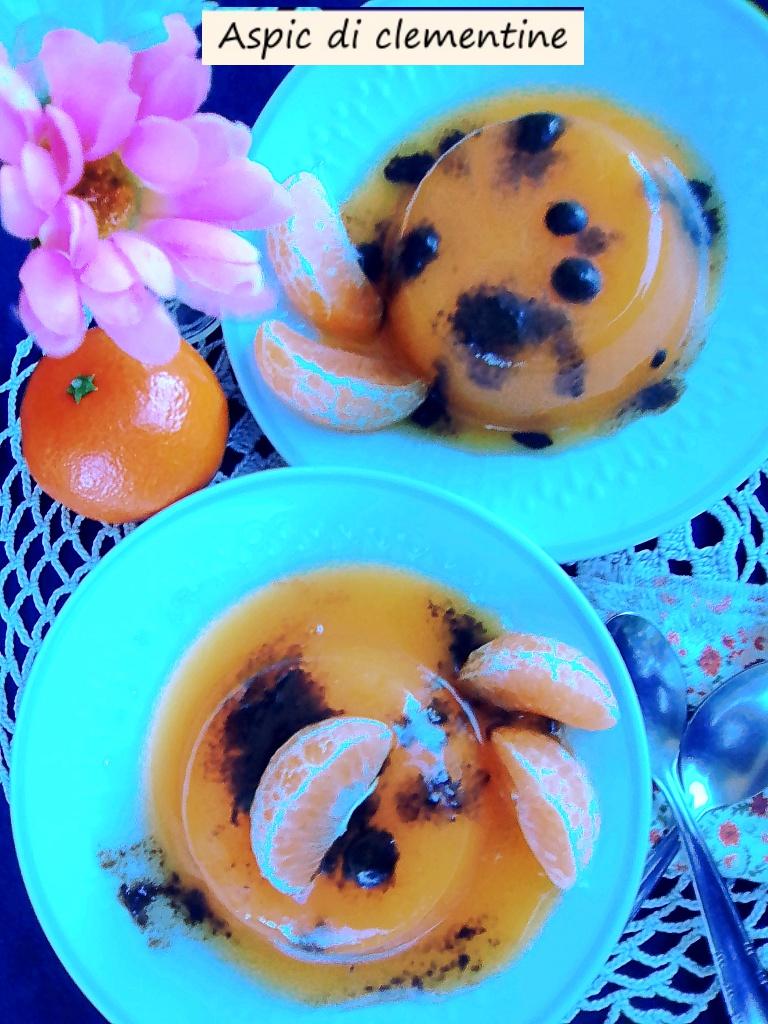 Aspic di clementine