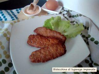 bistecchine di luganega impanate