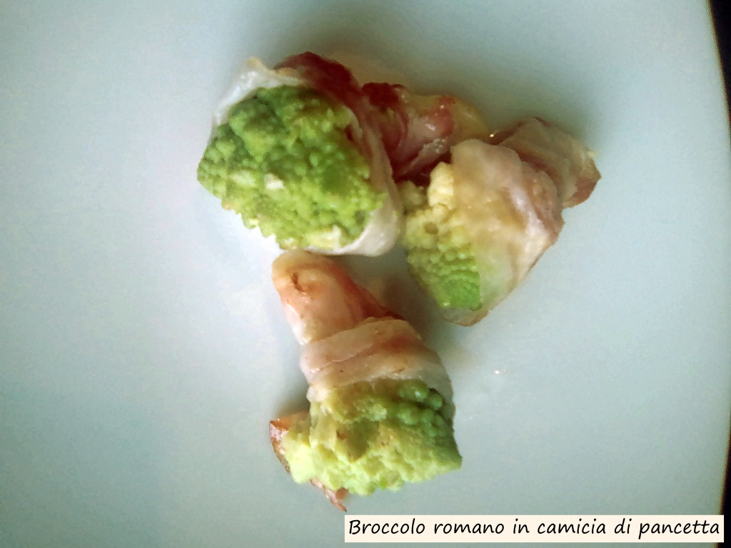 broccolo romano in camicia di pancetta