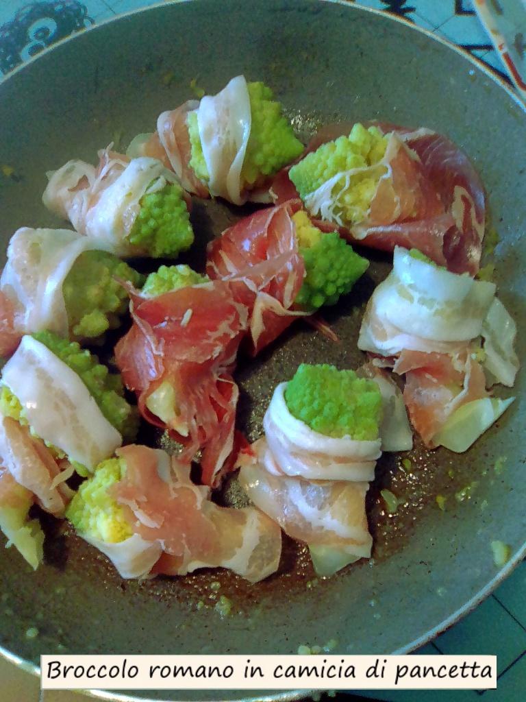 broccolo romano in camicia di pancetta