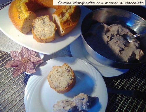 Corona  Margherita con mousse al cioccolato