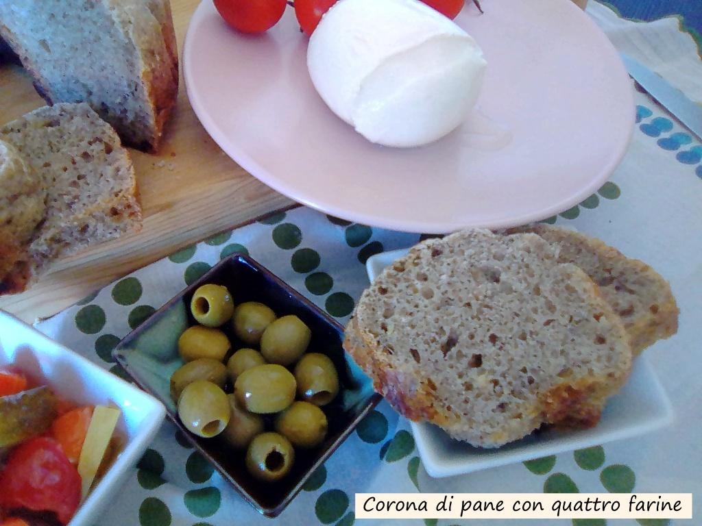 corona di pane con quattro farine