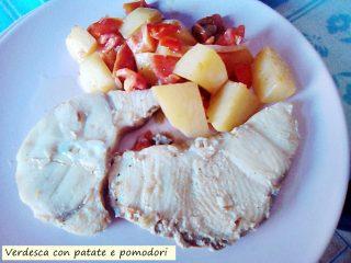verdesca con patate e pomodori