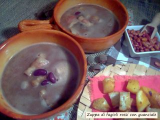 zuppa di fagioli rossi con guanciale