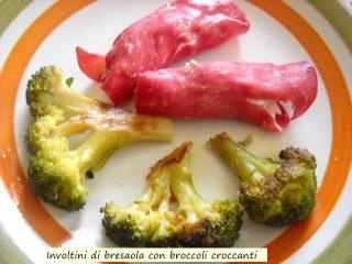 involtini di bresaola con broccoli croccanti