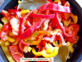 merluzzo con peperoni