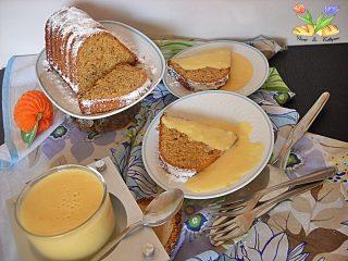 crema all'arancia su tortino gluten free