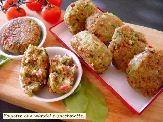 polpette con wurstel e zucchinette
