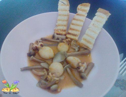 Seppioline in guazzetto con funghi chiodini