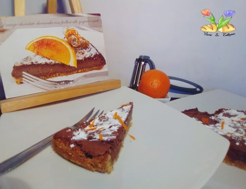 Orange chocolate cheesecake con yogurt
