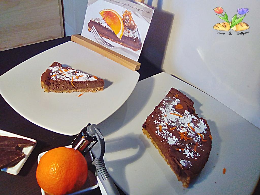 orange chocolate cheesecake con yogurt