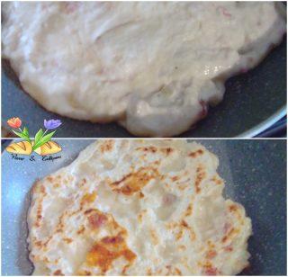 focaccia con formaggi cotta in padella