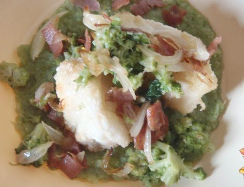 Zuppa di  broccoletti con merluzzo