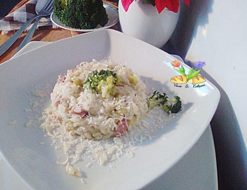 Risotto con broccoletti e prosciutto cotto