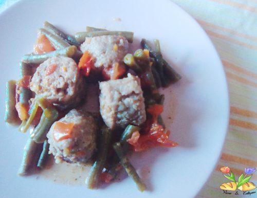 Salamella in umido con fagiolini