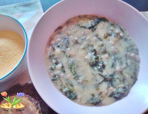 Zuppetta di polenta con spinaci