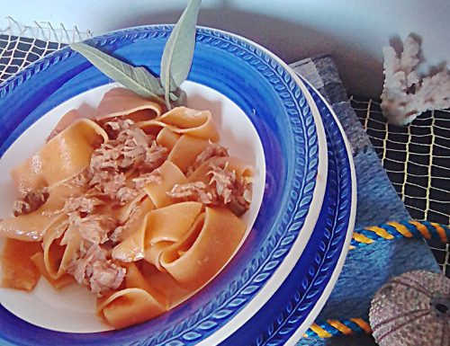 Pappardelle rosè con tonno
