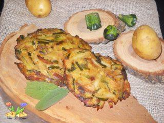 rostì di zucchine e patate al forno