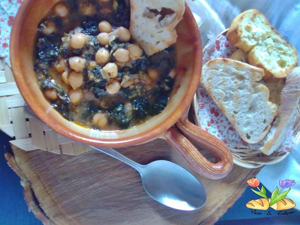 zuppa d'inverno con ceci e cavolo nero