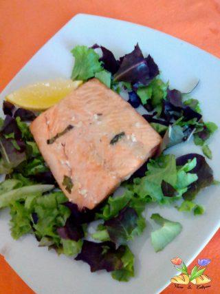 tranci di salmone grigliati in airfryer