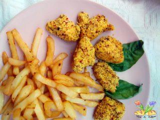 bocconcini di pollo con impanatura mediterranea cotti in airfryer