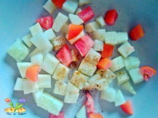 crema fredda di robiola con cetrioli