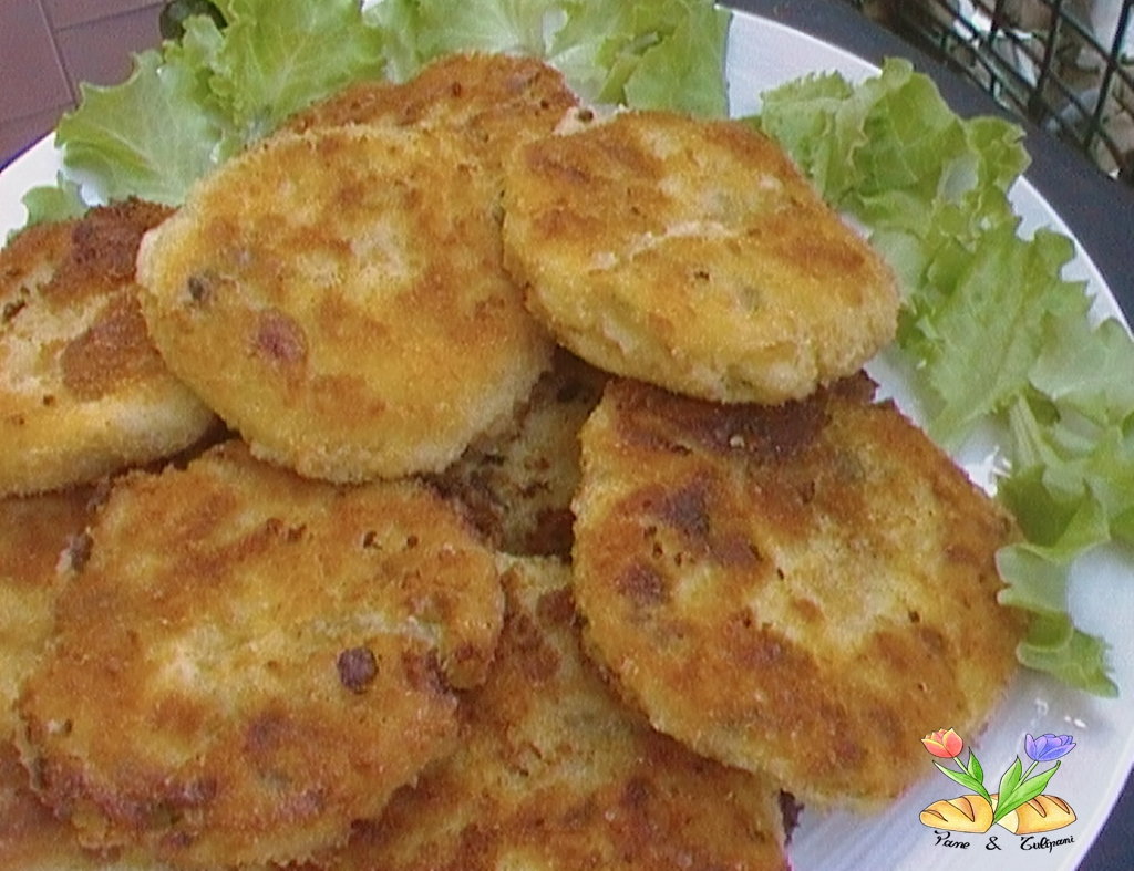 Gallette di patate e prosciutto cotto