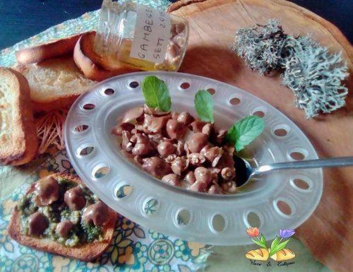 Funghi gambe secche sott'olio con nepitella