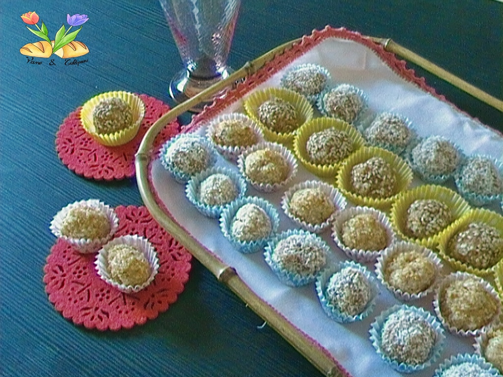 tartufini di wafer al limoncello