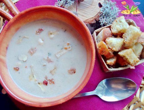 Zuppa di vescie bianche con menta