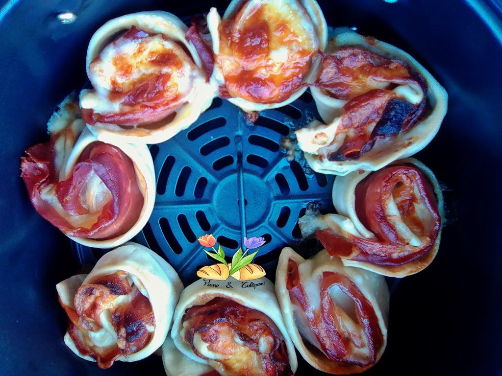 rosette di gnocco fritto con salumi