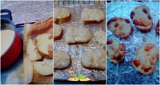bruschette con crema di formaggi. Ricetta svuota frigo