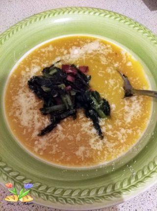 zuppa di zucca con cavolo nero